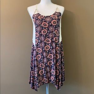 *Xhilaration* Floral Dress with Lace Detail